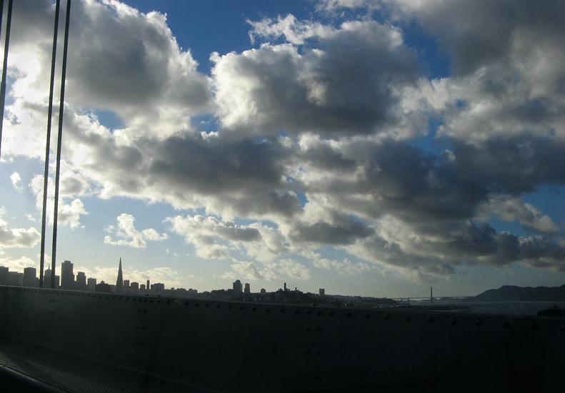 San Francisco skyline from bridge, #1372.