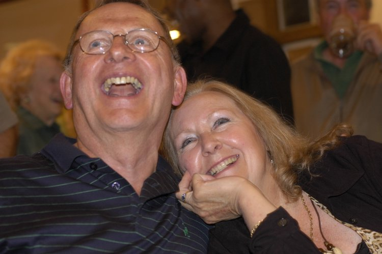 My parents at the moment of SAs rugby world cup victory