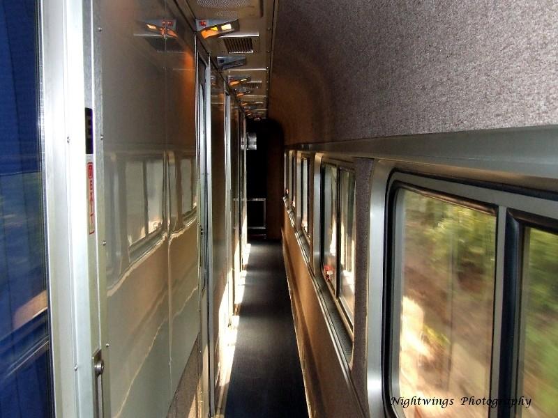 Superliner Sleeper hallway
