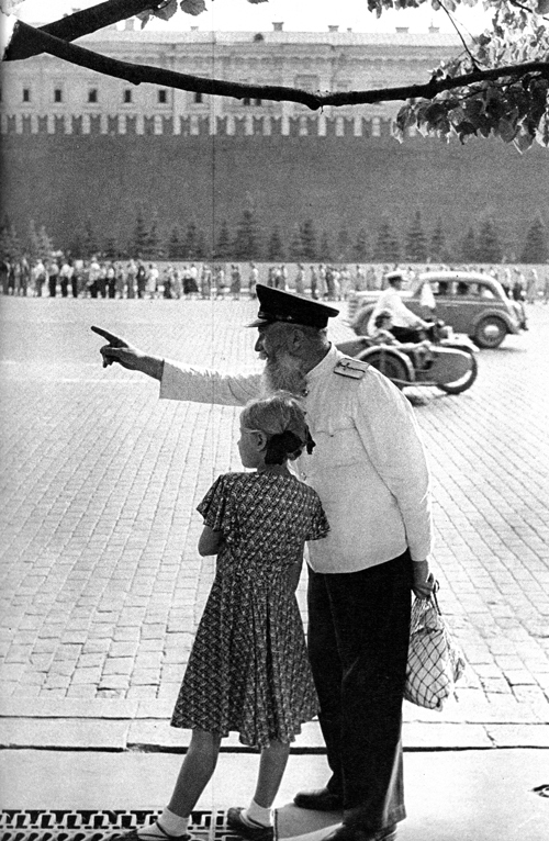 Morning at Red Square, Moscow, USSR, 1954