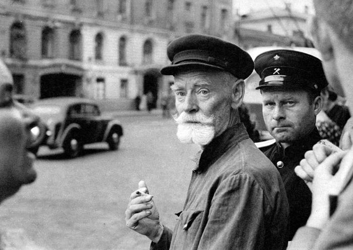 Pedestrian walk, Moscow, USSR, 1954