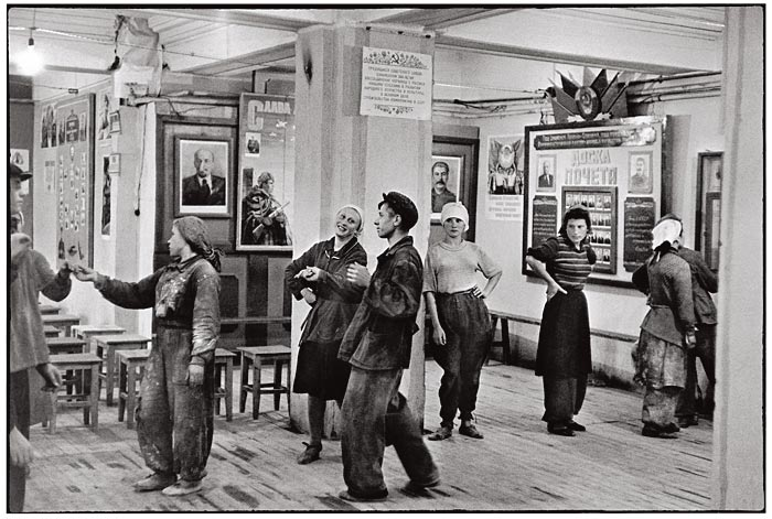 Cafeteria of the Workers building, the Hotel Metropol, Moscow, USSR, 1954