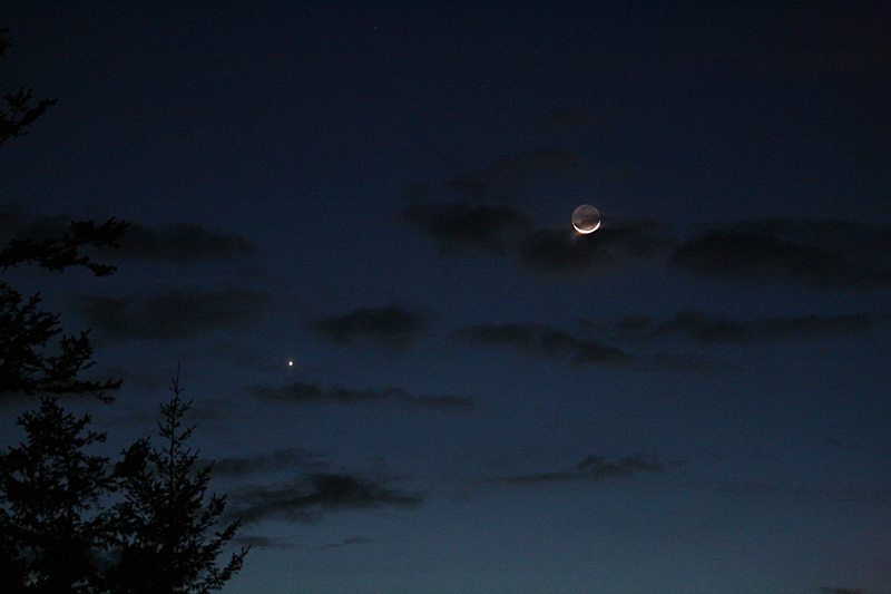 March 6  Moon and Jupiter