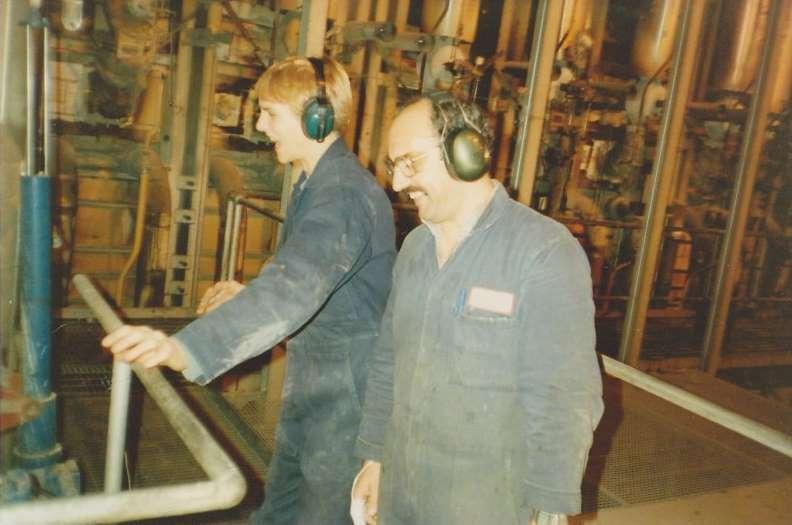 Steve the apprentice with Paddy Finnegan