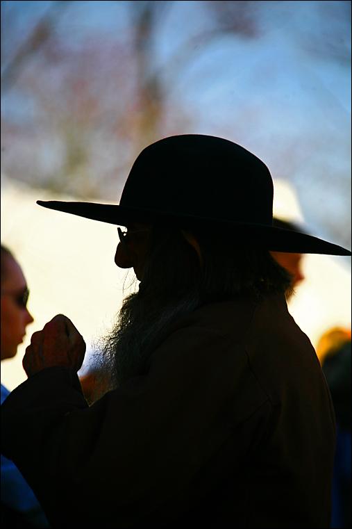 High profile Amish man.
