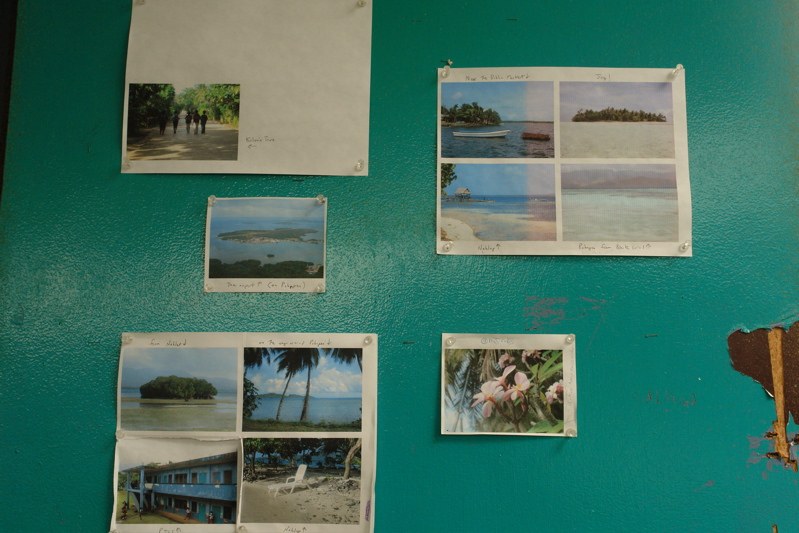 These are prints of Robs photographs on the inside of his classroom door revealing Pohnpei