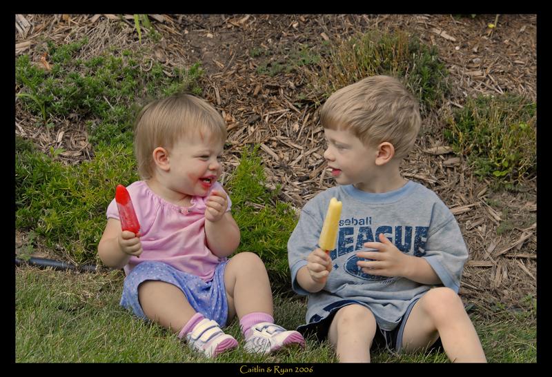 Caitlin & Ryan having a treat