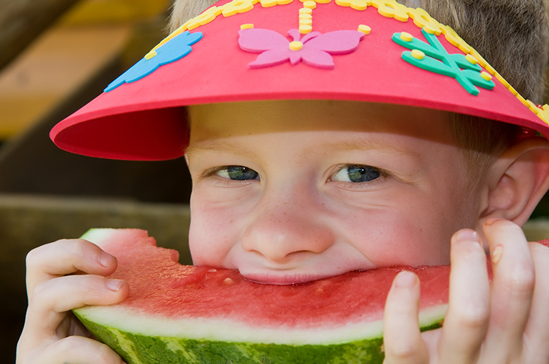 Ryan into his watermelon