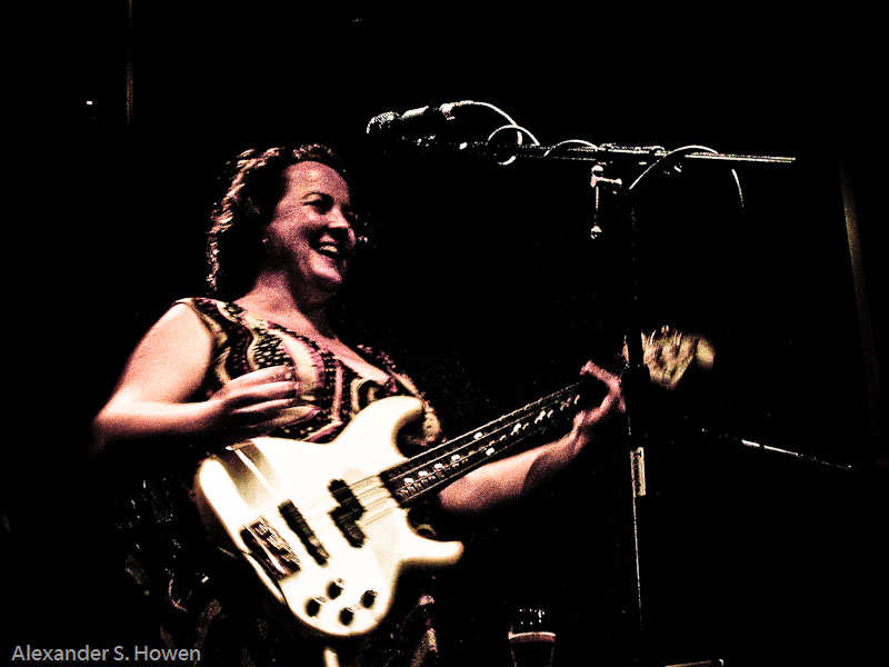 Chick on bass