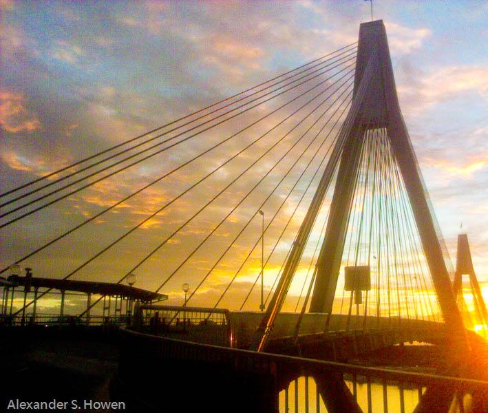 Anzac Bridge sunset 3