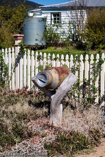 A very Australian letterbox at Collits Inn