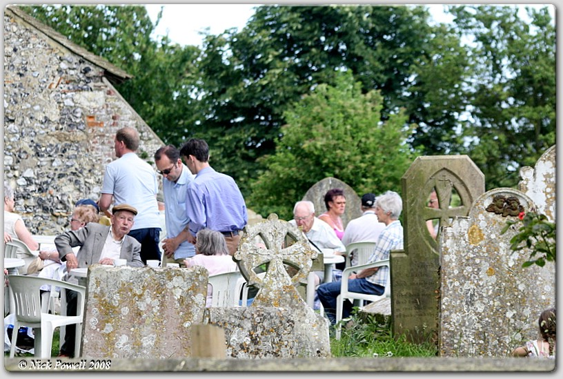 Tea amongst the tombstones