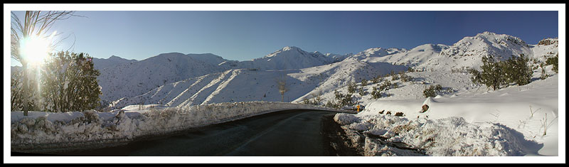 Panoramic on the Road Farellones