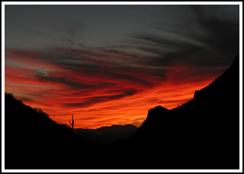 An Obscene Arizona Sunset
