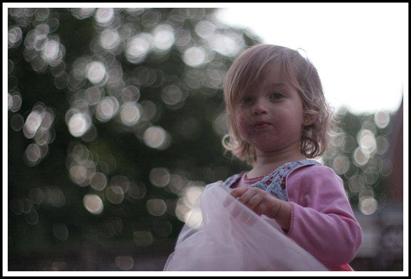 Girl in Bubbles of Light