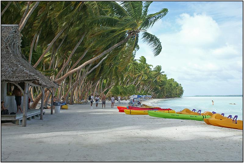 Napali Beach on Fanning Island