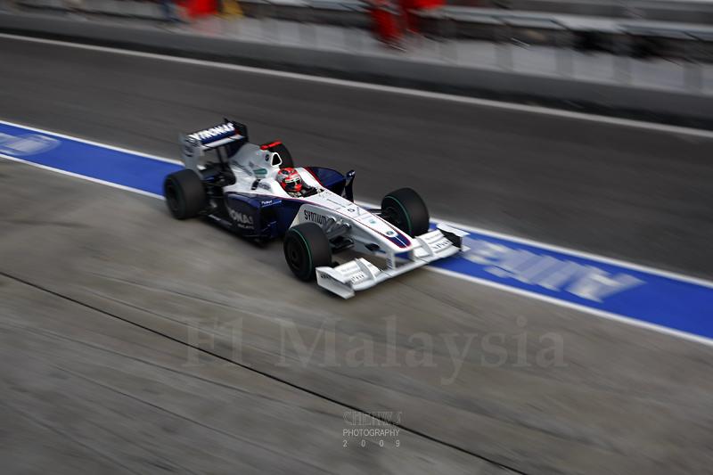 Robert Kubica pitting