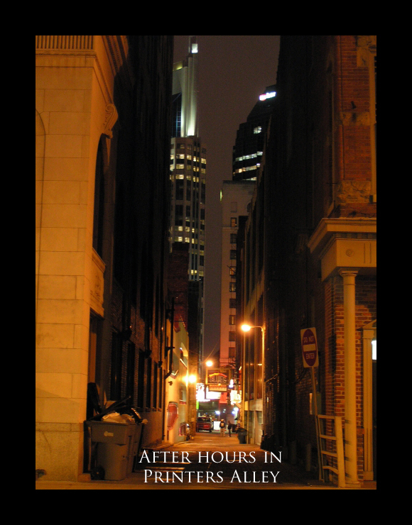 Printers Alley perspective