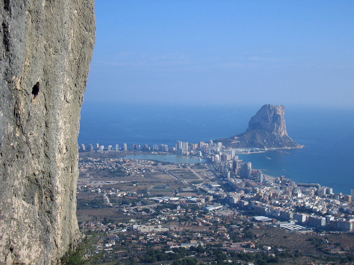 Calpe and the Penon from Olta