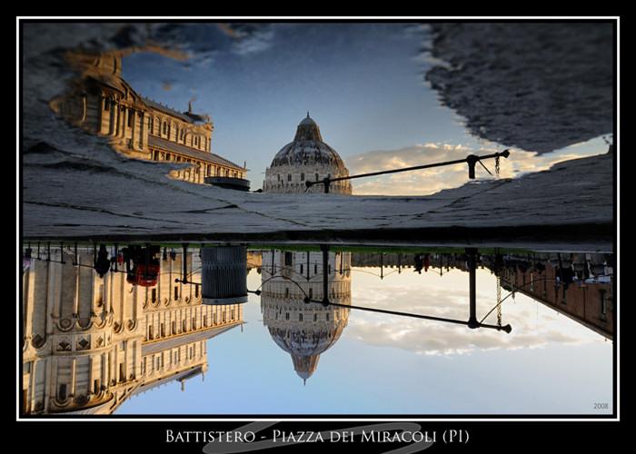 Puddle reflection - Pisa