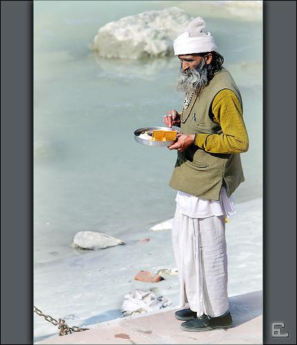 Selling Ganga Puja