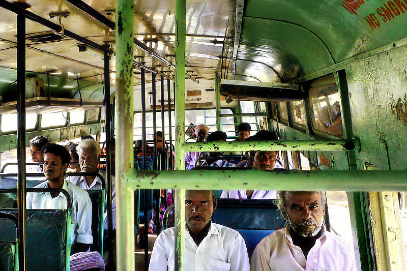 On a Tamil bus I