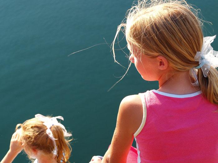 girls, ballycotton pier