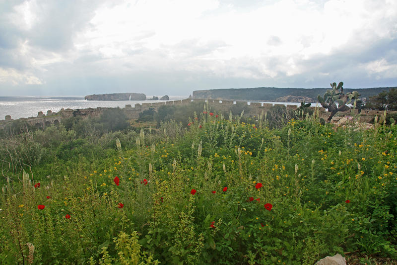 The view out to sea from the fortress at Pylos