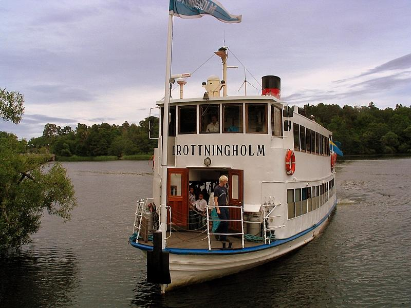 Boating to Drottingholm, the royal residence, Stockholm