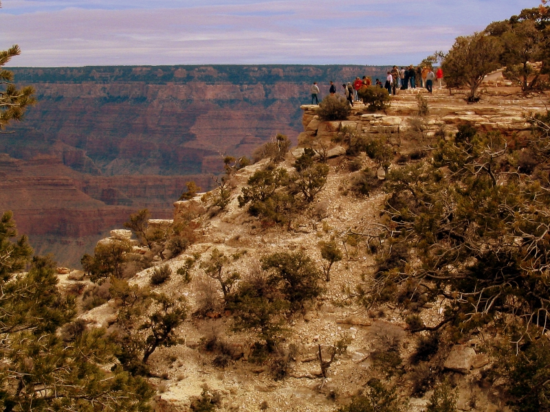 Looking out over the South Rim, Grand Canyon