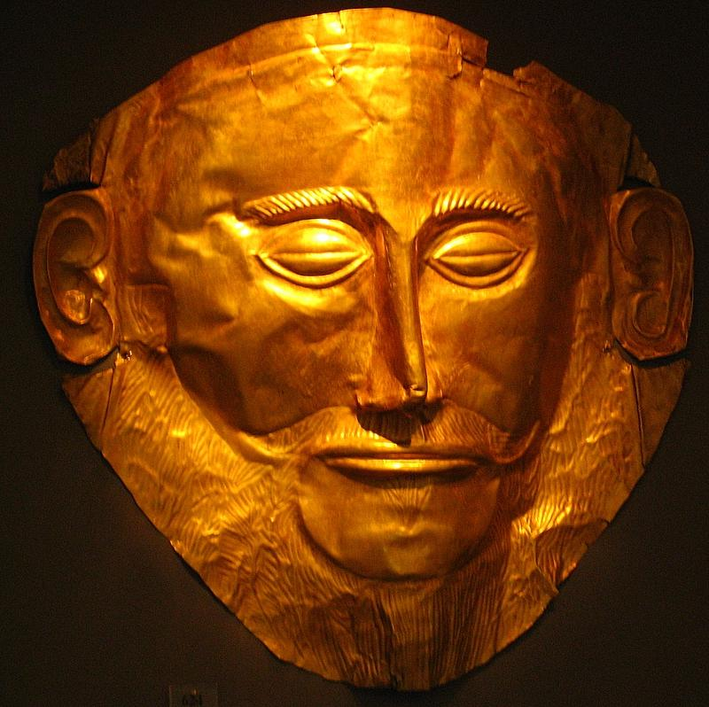 The death mask of agamemnon photo - chris lock photos at pba.