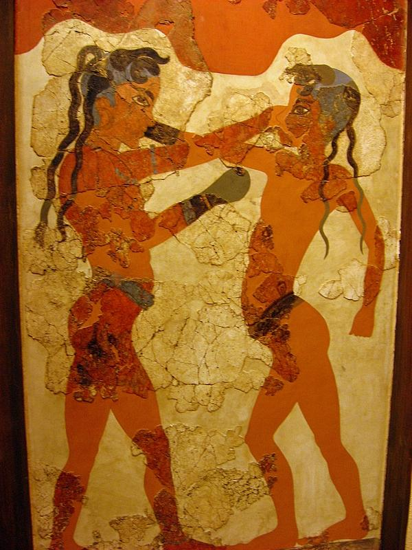 The Minoan Boys boxing