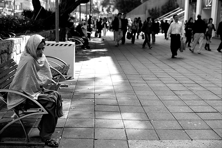 Lady on bench