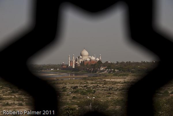 Taj Mahal visto do Red Fort