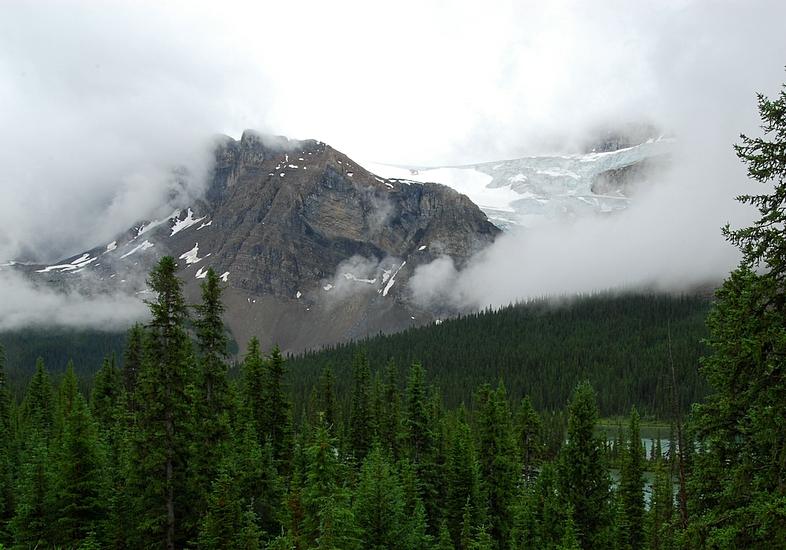 Crowfoot Mountain and Crowfoot Glacier