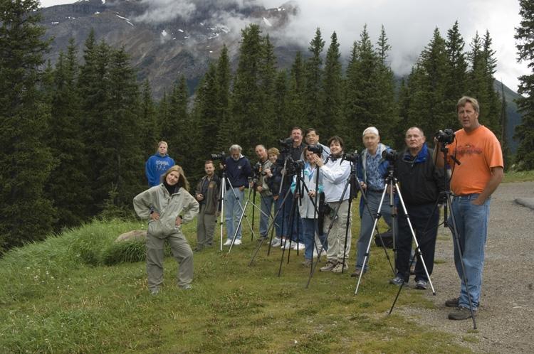 Posing In Front Of Crowfoot Glacier