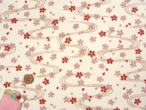 My fabric: cotton jersey from Fabric Tales in Japan