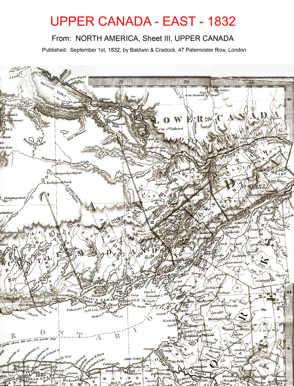 Map - Upper Canada 1832 - east