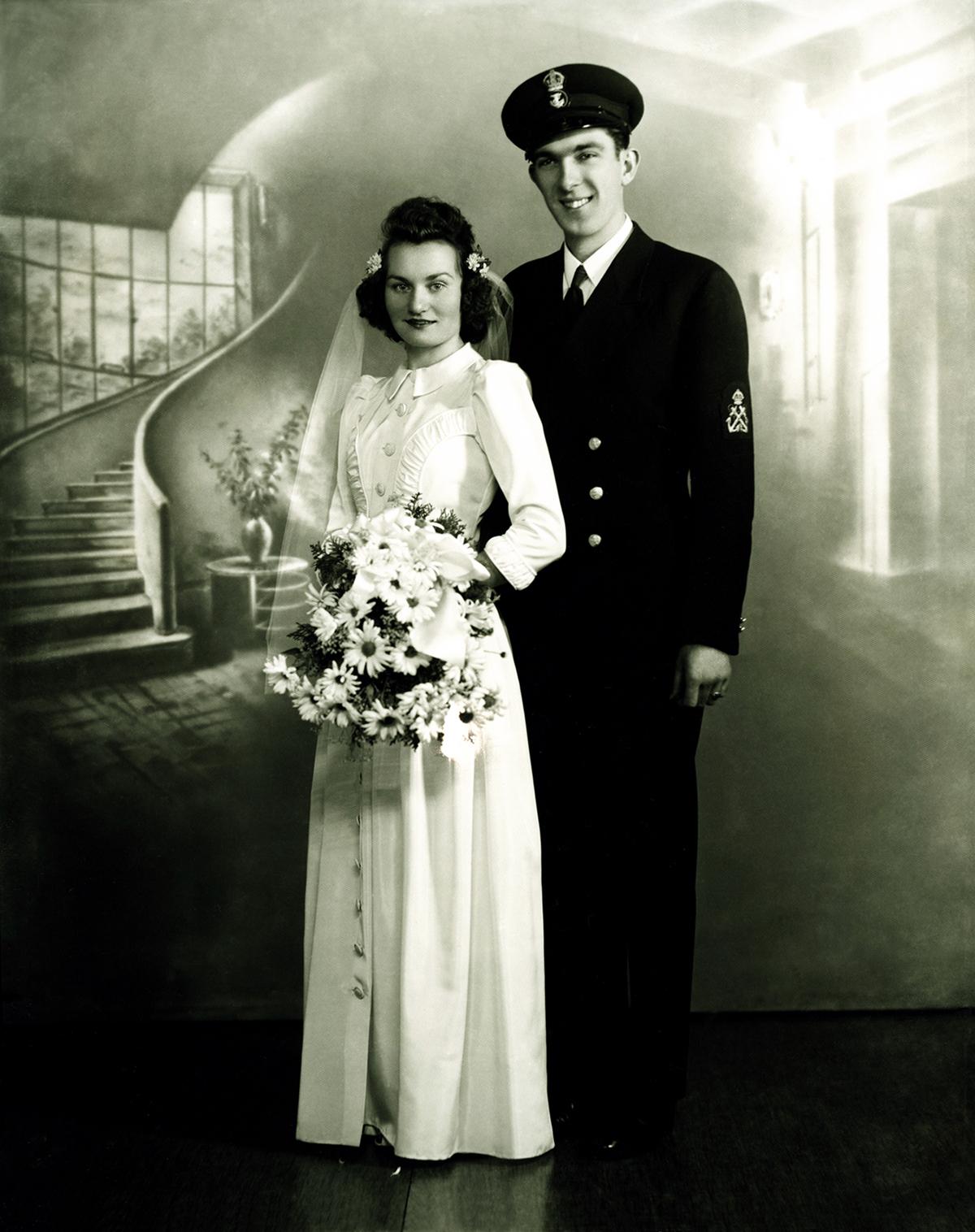 Mom  & Dad - Wedding 1942