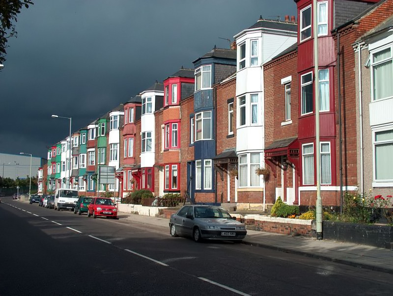 Terraced Houses Templetown South Shields England-Shirley