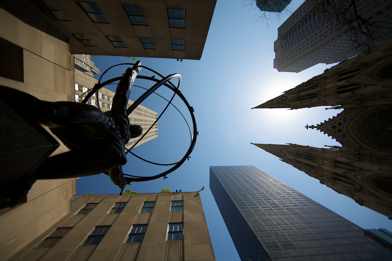 Atlas and St. Patricks Cathedral