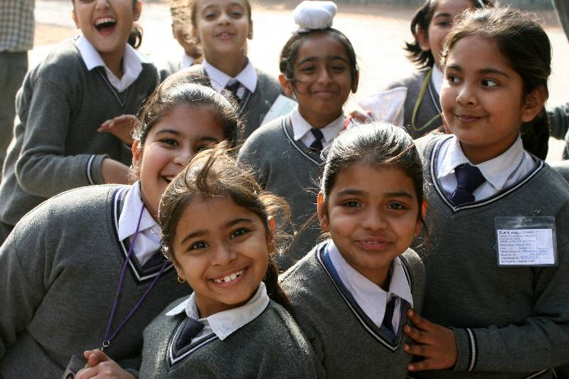 School Girls at the Red Fort