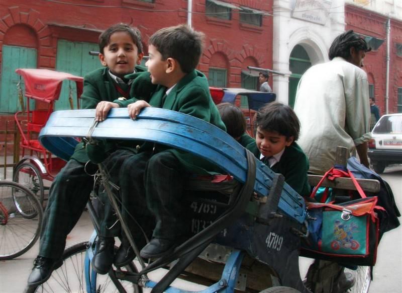 Ride to School Old Delhi