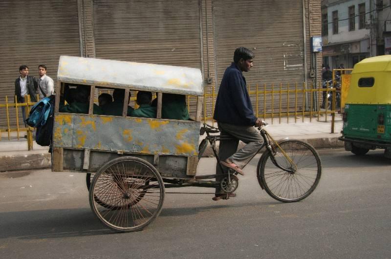 School Bus Rickshaw, Old Delhi