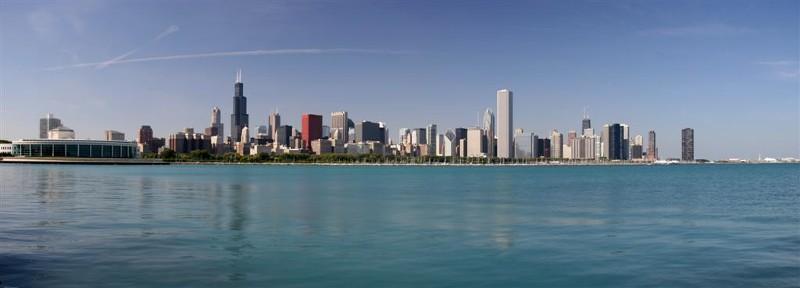 Chicago Skyline from Chicagos Adler Planetarium & Astronomy Museum