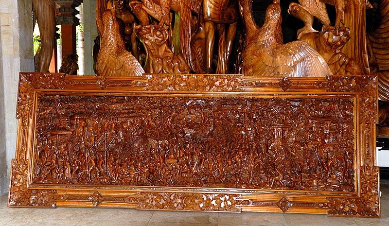 Balinese wood carving
