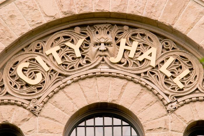 Salt Lake City Hall entrance