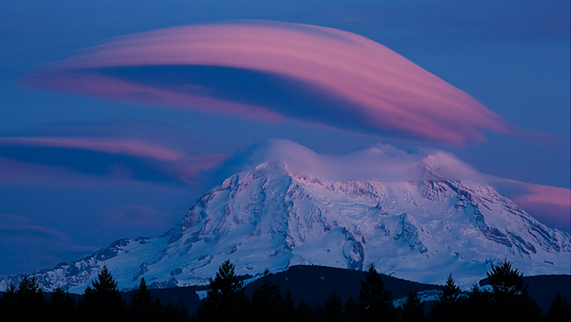 Mt. Rainier, After Sunset