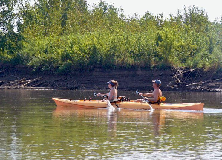 Tandem Kayakers near Eddyville