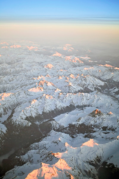Sunset over the Pyrenees